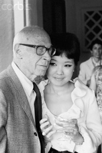 11 Sep 1967, Beverly Hills, California, USA --- Author Henry Miller and His Wife --- Image by © Bettmann/CORBIS
