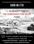 The poster for the Soberanes Fire benefit...